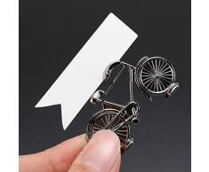 Generic 1 pieza de forma de bicicleta nombre número lugar de mesa tarjeta soporte bicicleta patrón boda fiesta