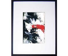 Abstractos modernos cuadros decorativos con marco pintadas a mano sobre papel