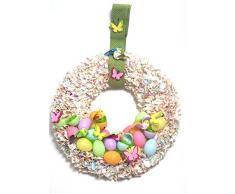 Corona de Pascua Primavera Corona plástico Juego de manualidades, 35 cm