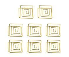 Hemoton 8 piezas soporte de número de mesa de alambre soportes de tarjeta de lugar de metal mini número de mesa soportes imagen soporte de foto para banquete de boda (dorado)