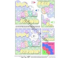 Frith Escultura Godfather de de conejo de Pascua para niño Shell Felties cuña por Carol Clarke