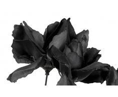 Boland 74544 - ramo de rosas, decoraciones, alrededor de 28 cm, negro
