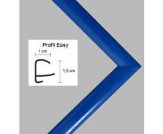 Easy Marco de plástico Para cuadros y pósteres 35x100 cm 100x35 cm Color selecionado: azul Con vidrio acrílico
