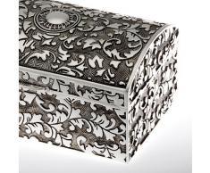Joyero Metal Plateado Joyero Cajón almacenamiento joyas Cofre del tesoro para Regalos de dinero Joya