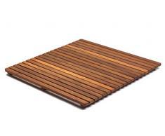 AsinoX TEK4A6161 - Tarima de ducha y baño, madera de teca