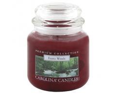 "Caroline velas 425 G ""maderas"" de cristal para velas en tarro, rojo"