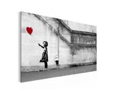 """Formato de pantalla XXL 3016328 A Banksy """"there is always Hope"""" 90 x 60 cm, 3 piezas cuadro marco Top Reproducción de fotografía sobre lienzo"""