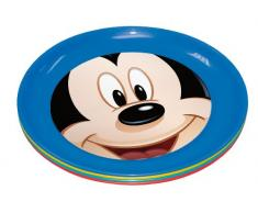 Stor Four Seasons - Set de 4 platos, diseño Mickey Mouse Club House Shapes & Numbers