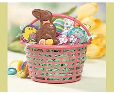 12 Canastas para Caza de Huevos de Pascua de Plástico de Colores Brillantes | Cestas para Fiestas Infantiles de Pascua