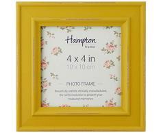 Hampton Marcos Paloma Cuadrado Marco de Fotos, Madera, Amarillo Mostaza, 14,5 x 14,5 x 2,5 cm