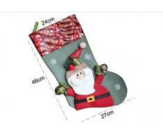 thematys Calcetín de Navidad Medias para Rellenar y Colgar en 10 diseños Diferentes - la decoración navideña (10)