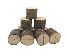 TOOGOO Sostenedor de tarjeta de madera de lugar de boda Soporte de numero de mesa para decoraciones de fiesta casa Paquete de 20