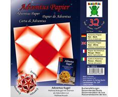 Libro Blanco Rojo Adventus: Papel para el libro: Adventus pelota - Bola de Navidad con estrellas como decoración para la Navidad (ISBN 978-3-938127-22-3)