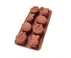 remote.S Pascua Molde De Silicona Molde para Chocolate Moldes De Silicona DIY Tartas Chocolate Huevos De Pascua Y Conejo,