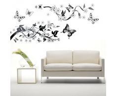 TOOGOO (R) Pegatina Adhesivo vinilo decorativo pared Mariposa Hiedra 90*60CM