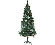 TecTake Árbol de Navidad Artificial con Soporte Metálico - disponible en diferentes colores y tamaños - (180 cm | 533 Ramas | Verde | No. 402820)