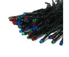 Dealbeta - Guirnalda Solar 17M 100 LED - Decoración externa, fiestas, navidad, árbol de navidad, jardín, terraza, etc ... multicolor