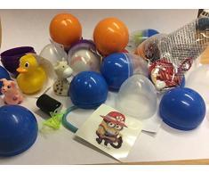 25 x juguetes de huevos mezclados, ideal para cargas de bolsas de fiesta y premios Pinata. Perfecto para las cacerías de huevos de Pascua