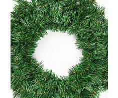 MoGist Corona de Navidad Fácil Verde Christmas Wreath Corona de Navidad para Puerta Corona Árbol de Navidad decoración Corona, Grün-30cm, 30 cm