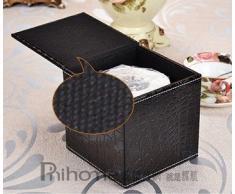 Caja de pañuelos Holder dispensador negro clásico