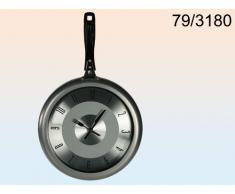 Reloj de Pared de Metal Sartén Gris
