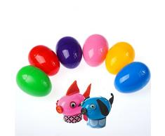 Zhhlinyuan Huevos de Pascua Vacíos Bright Colours Fillable Plastic Easter Eggs Set of 10 Toys Eggs para Children DIY Painting Kids Fun Party etc