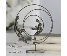 Casablanca – Escultura, diseño figura – Circles – Altura: 23 cm – Hierro bruñido