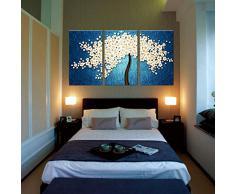 YESURPRISE Impresión En Lienzo Nuevo Para Pared Decoración Para Hogar Sala Cocina Dormitorio Sakura Asiática Árbol De Flores (sin marco o bastidor)