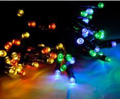 Lychee 11m 36 pies 60LED Solar impermeable hadas de las luces con 2 modos para la decoración de exteriores, interiores, de la boda, jardín, casa, fiesta, navidad (Multi-color)