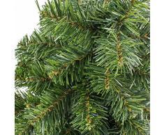 artplants.de Mini árbol de Navidad Artificial VARSOVIA, Verde, Dorado, 90cm, Ø 50cm - Pequeño Abeto Decorativo - Árbol de plástico