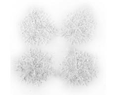 -Adornos para árbol de navidad, con forma de copo de nieve, 6 cm (60 unidades)