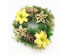 Corona de Adviento con Navidad 28 cm corona de Navidad para puerta corona Varios Color