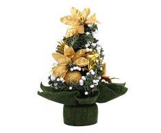 WUFANGFF Mini Árbol De Navidad Artificial Decoraciones Interiores Pequeño Pino, Fiesta De Año Nuevo Vacaciones Decoraciones Ormament(20Cm),B