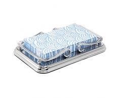 mDesign Toallero de baño de Metal – Porta Toallas de Mano, pañuelos de Papel, etc. – Cesta para Toallas Ideal para el Lavabo o sobre la Cisterna – Plateado