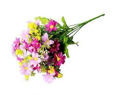 Topdo - Flores de Margaritas Artificiales para Colgar en la Pared, Ramo Artificial para jardín, Oficina, Fiesta, decoración de Boda, Rosy, as Shown