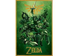 """Póster """"The Legend of Zelda/La Leyenda de Zelda"""" Link/Conección (61cm x 91,5cm)"""