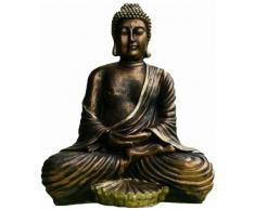 Grandes Escultura de Buda meditando con dhiana Mudra