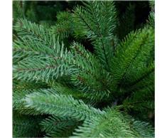 Árbol de Navidad artificial DeLuxe de 150 cm, 1,5 m de alta calidad, tipo abeto de lujo de Nordmann / del Cáucaso/boreal, puntas y hojas de pino moldeadas por inyección perfecta de polietileno, sistema de apertura plegable,