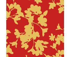 Papel de Regalo Rollo pequeño 70cmx1.5 Metros Motivo Dido Rojo/Dorado