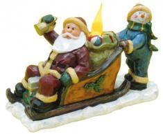 Naeve Leuchten 5078461 - Figura decorativa, diseño de Papá Noel y muñeco de nieve