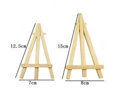 Vikenner 12 pcs mini triángulo de madera artista caballete boda cuadro imagen número lugar nombre tarjeta soporte pantalla soporte para boda cumpleaños Baby Shower Party & Bar Table Setting