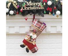thematys Calcetín de Navidad Medias para Rellenar y Colgar en 10 diseños Diferentes - la decoración navideña (14)