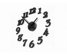 3D Reloj adhesivo, DIY Relojes de pared grande extraíble de pared Decoración de pared Reloj de Cocina Digital Negro