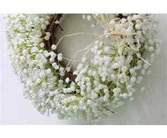 flor artificial Guirnaldas guarnecido de la puerta decoración flores artificiales nueva puerta habitación decoración Hombre tianxing corona persona flores artificiales diámetro periférico de 30 cm