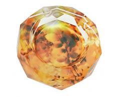 Clásica Naranja Otoño escena patrón transparente Octangle forma cristal cigarrillo cenicero para oficina en casa mesa decoración de escritorio, regalo del día del padre