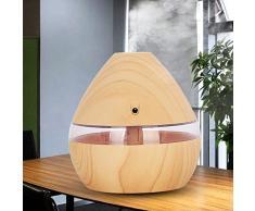 SUNNSEAN Aroma Difusor 300 ML Madera Por Ultrasonido Aromática Aceite Ambientador Difusor Humidificador de Madera con LED de Colores para la Casa, Yoga, Oficina, Spa, Dormitorio