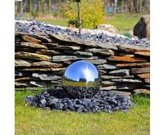 CLGarden Bola de acero inoxidable 30cm pulido, Element Para El bola de acero inoxidable Brunnen ESB3 Pulido Bola de acero inoxidable con 30 cm diámetro para jardín fuente decorativa Agua parte 30cm