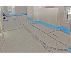 SH Fußbodenheizung - Tira aislante con lengüeta para suelo radiante (8 x 150 mm, 25 m)