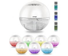 Amos purificador limpiador ionizador Revitalisant de aire con luz LED con colores cambiantes y 3 x 10 ml Fragancias arã' mes Essences (color blanco)