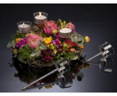 Portavelas Vidrio para candelita Candelero Cristal 10 cm Stick para Adornos - altura: 10 cm, diámetro: 4,5 cm, 1 Stück